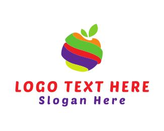 Slice - Fruit Twist logo design