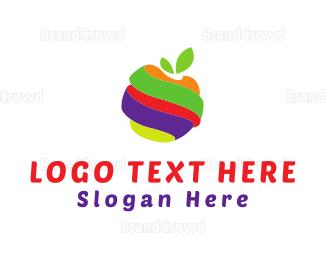 Peel - Fruit Twist logo design