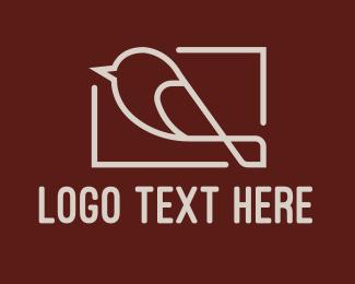 Photograph - Minimalist Bird Photograph logo design
