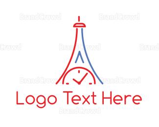 Anaglyph - Clock Tower Outline logo design