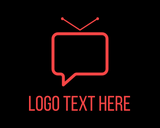 Tv - Vlog Chat logo design