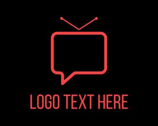 Communicate - Vlog Chat logo design