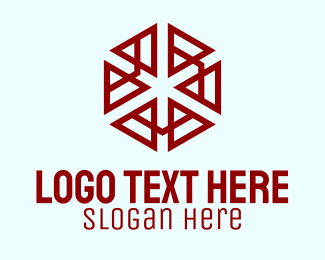 Bpo - Digital Hexagon Pattern logo design