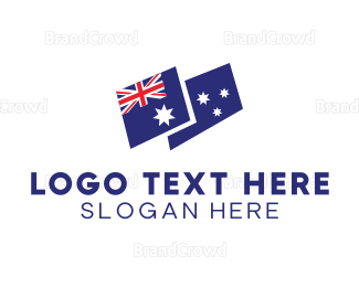 Politics - Modern Blue Australia Flag logo design