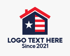 Real Estate - American Flag House logo design