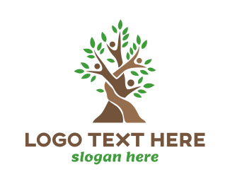Planting - Woven Tree People logo design