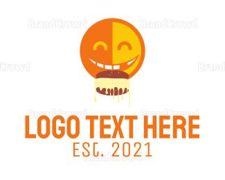 Smiling - Happy Smile Eating logo design