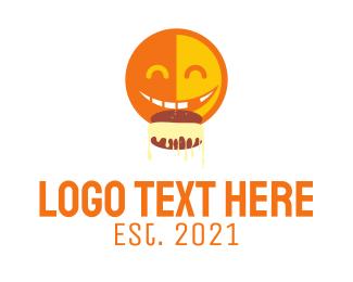 Eating - Happy Emoji Eating logo design