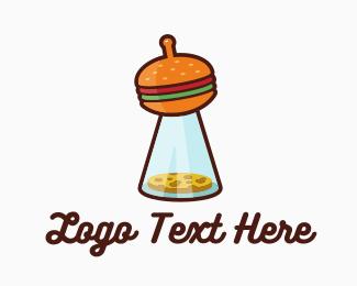 Cheeseburger - UFO Cheeseburgers logo design