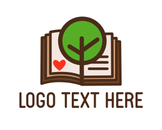 Page - Tree & Book logo design