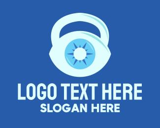 Visualization - Blue Eye Kettlebell logo design