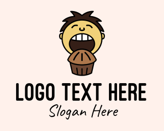 Youngster - Chocolate Muffin Boy logo design