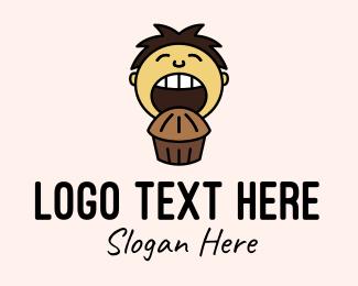 Eating - Chocolate Muffin Boy logo design