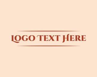 Cosmetics Brand Wordmark  Logo