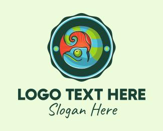 Reptile - Chameleon Circle logo design