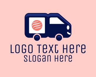 Cargo Shipping - Sushi Delivery Van logo design