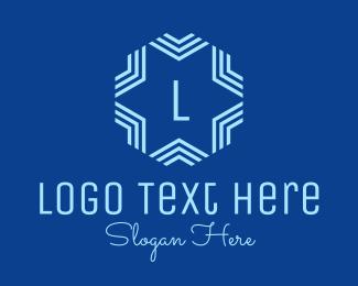 Snowy - Blue Winter Star Lettermark logo design