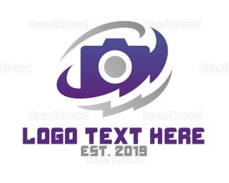Technician - Violet Flash Photographer logo design
