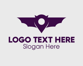 Location Pin - Bat Location Pin logo design