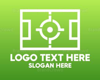 Cricket Bat - Football Sports Field logo design