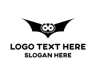 Dracula - Owl & Bat logo design