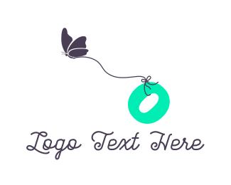 Letter O - Butterfly Letter O logo design