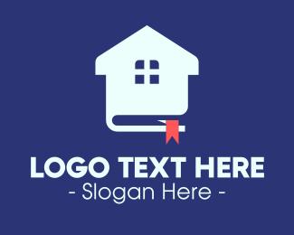 Online Tutor - Real Estate Book logo design
