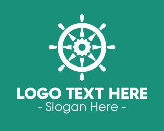 Boat - Boat Gear Helm logo design