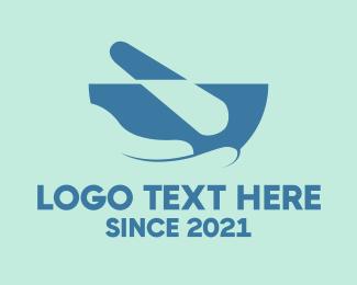 Drug Store - Pharmacy Mortar logo design