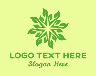 Yoga - Spa & Yoga Leaves Pattern logo design