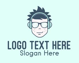 Listening - Teenage Music Streaming logo design