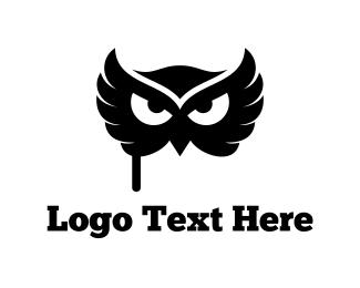 Dress Up - Owl Mask logo design