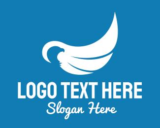 Airliner - Minimalist Eagle Wings logo design