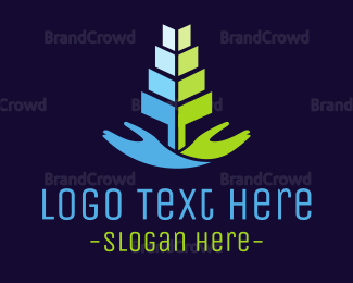 Hand - Hand Tree logo design