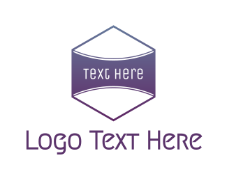 Purple Shield - Purple Badge  logo design