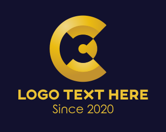 Buckler - Golden Letter C logo design