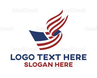 Political - Bookmark American Flag logo design