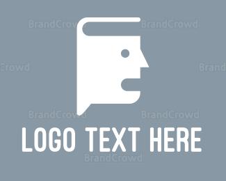 Language - Book Talk logo design