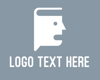 Literacy - Book Talk logo design