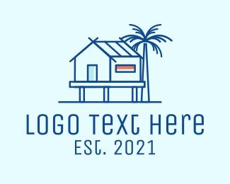 Bed And Breakfast - Beach House Villa logo design