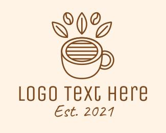 Coffee Bean - Coffee Cup Cafe Bean logo design
