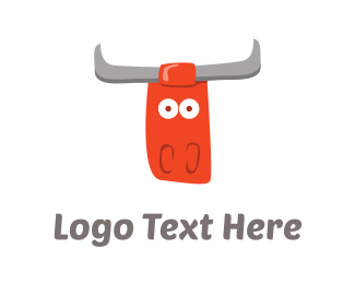 Cattle - Red Bull Cartoon logo design