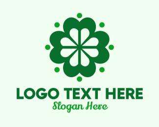 Lucky - Green Lucky Clover logo design