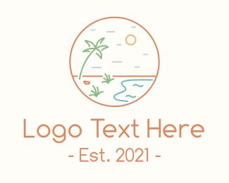 Journey - Tropical Seaside Shore logo design