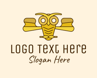 Learner - Yellow Gold Owl logo design