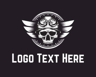 Parent - Skull Pilot logo design
