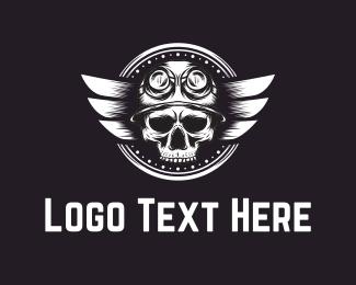 Skull Pilot Logo Maker