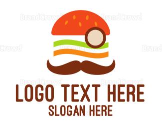 Moustache - Moustache Burger logo design