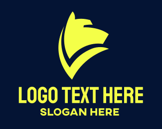 Kennel - Modern Yellow Hound logo design