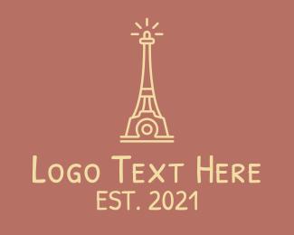 Editing - Eiffel Tower Camera logo design